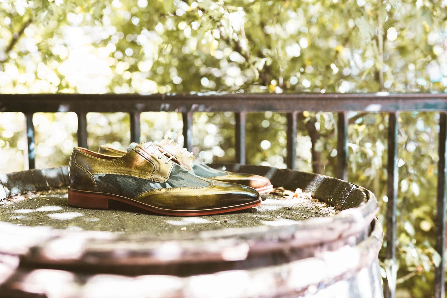 Olive green derby shoes - Melvin & Hamilton