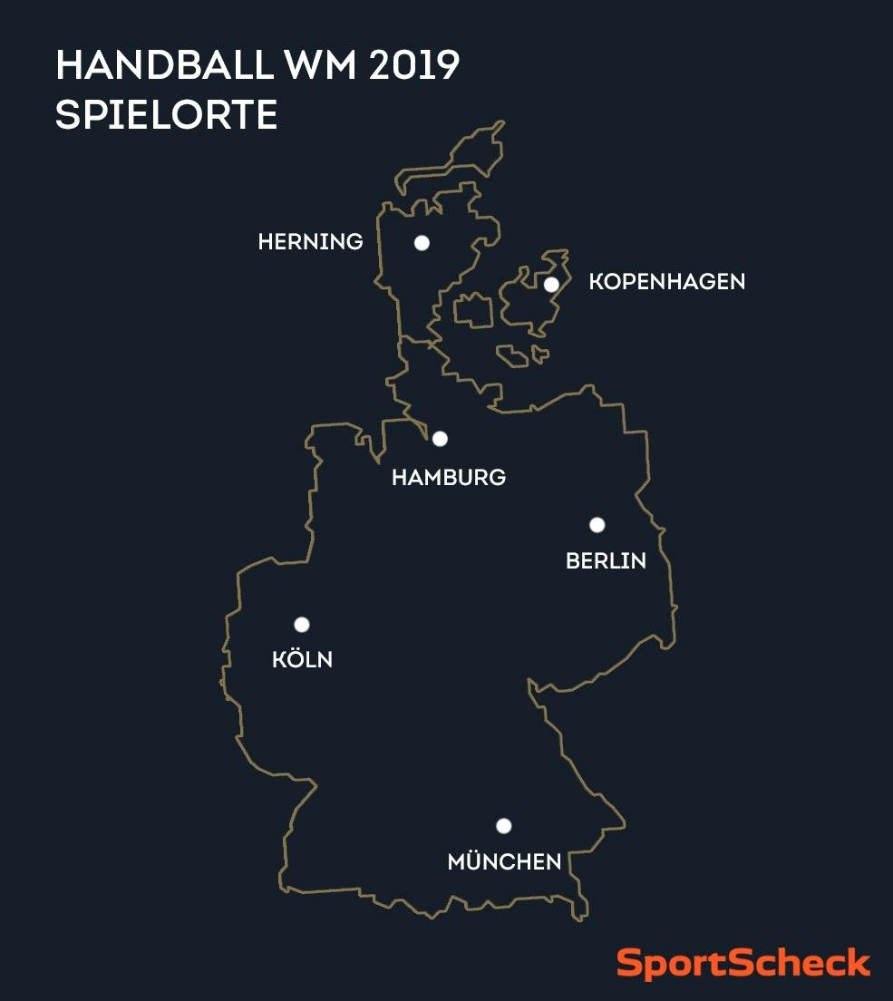 Handball WM 2019: Spielorte
