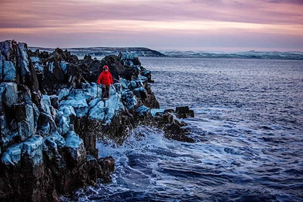 Island-Küste-Schlafsack