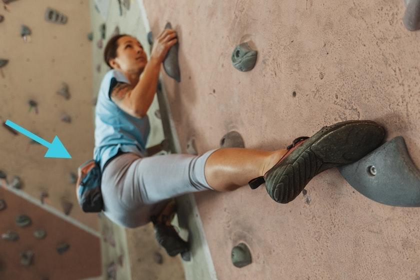 Körperhaltung beim Bouldern
