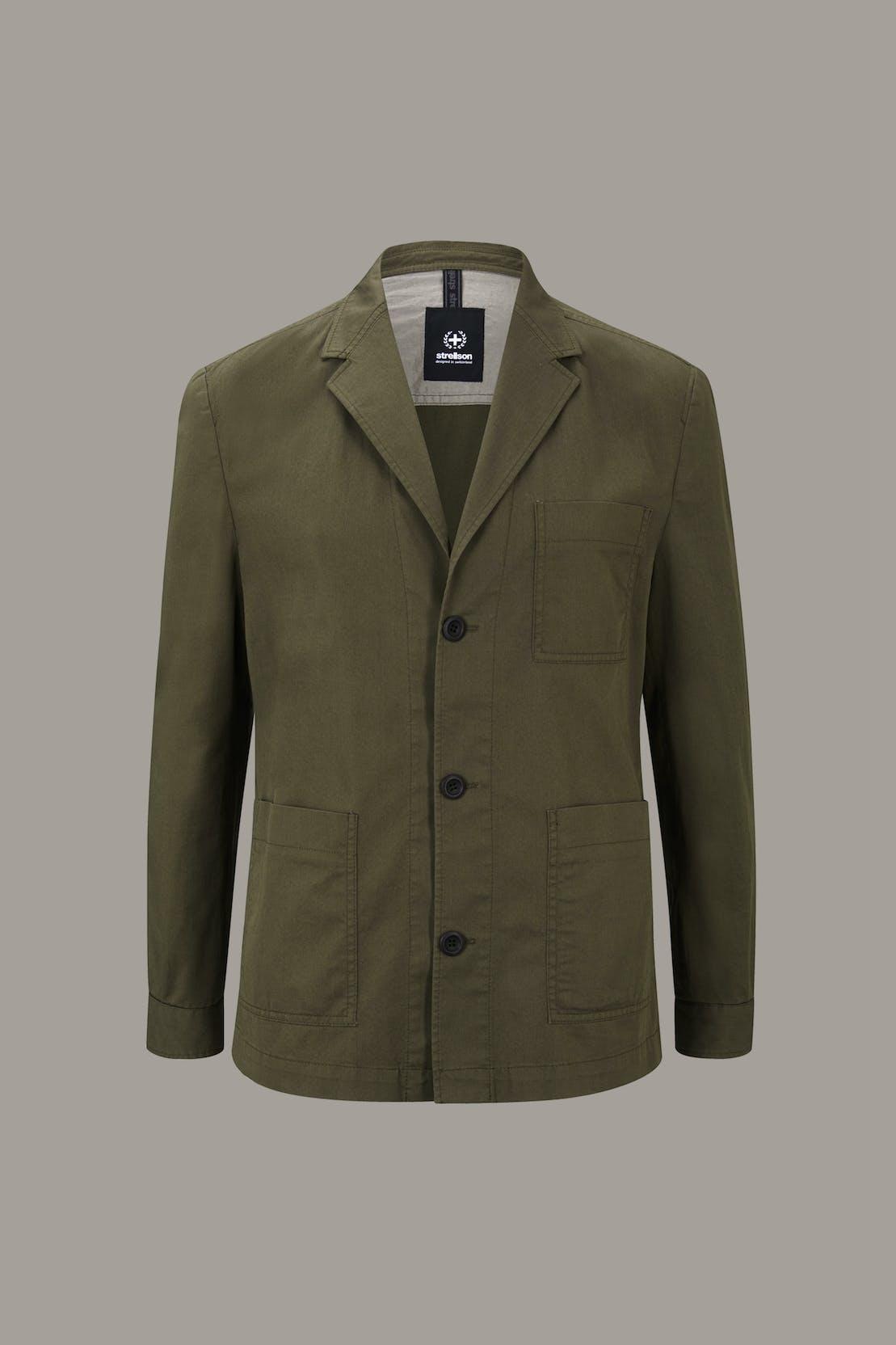 Baukasten-Shirt-Sakko Davin, oliv grün