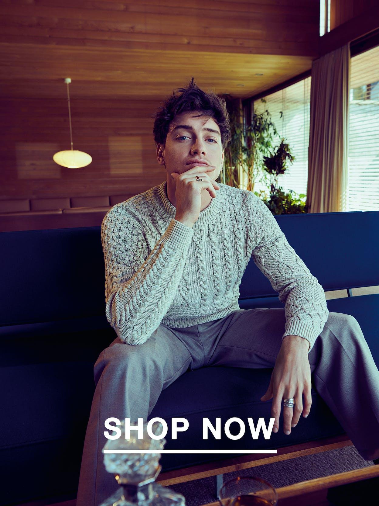 man-sit-sofa-knitwear