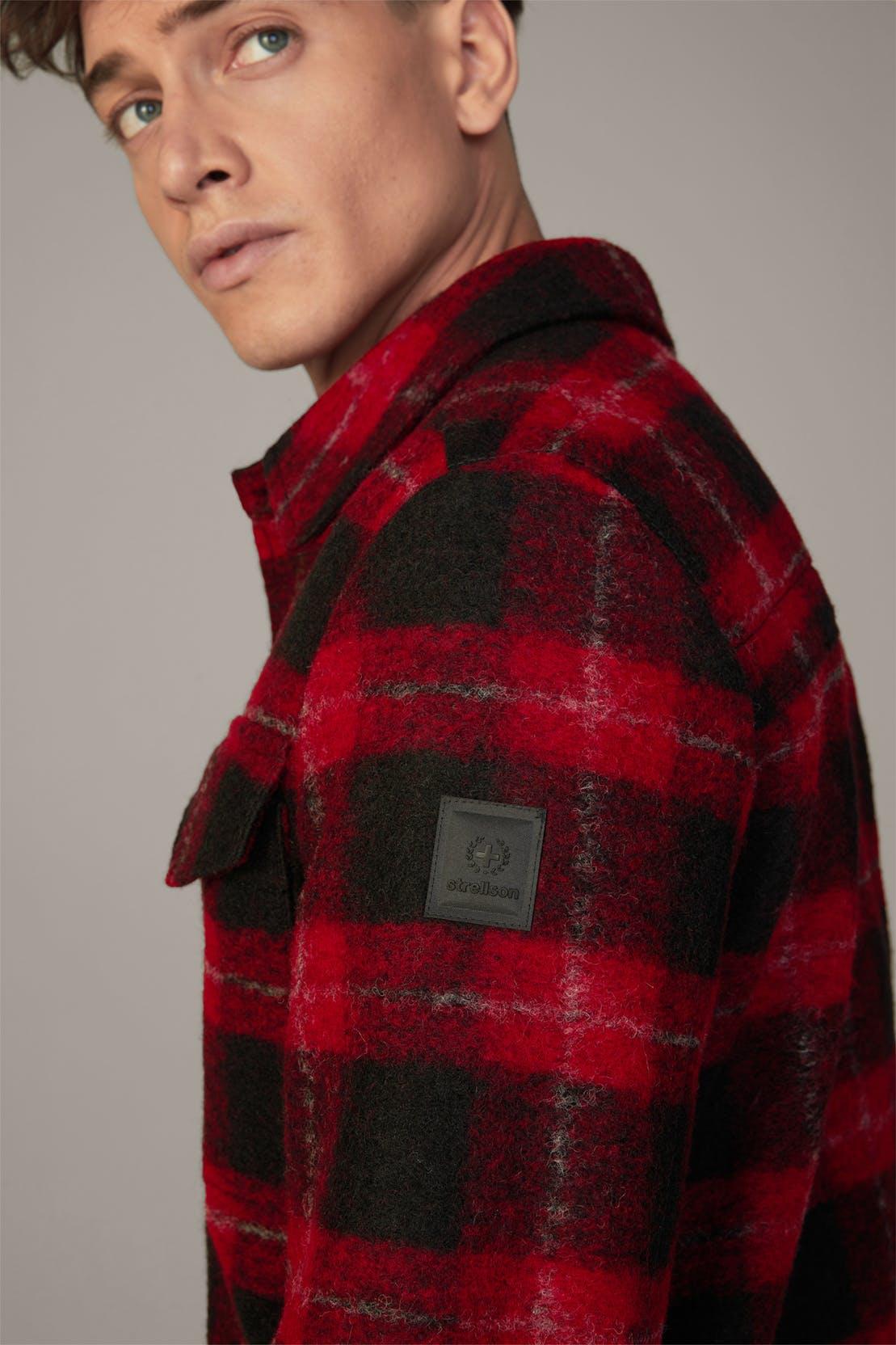 Hemdjacke Lumber, schwarz/rot kariert