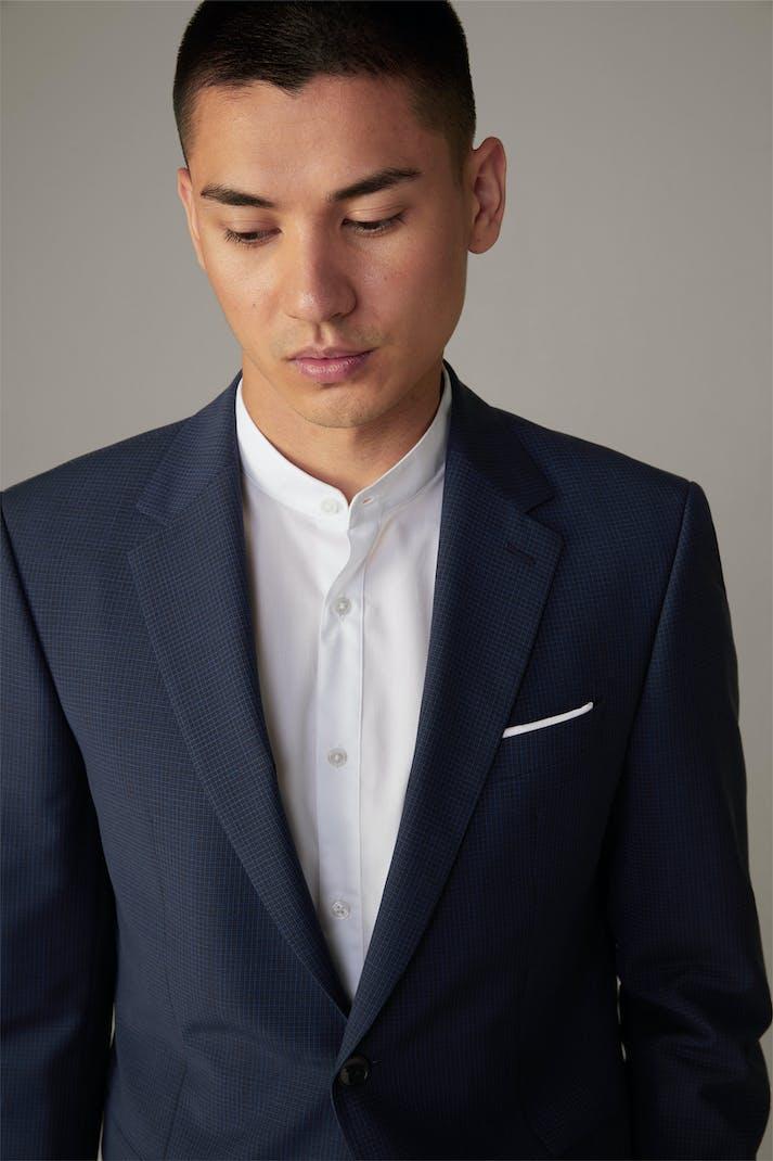 Schurwoll-Anzug Aidan-Max, blau kariert