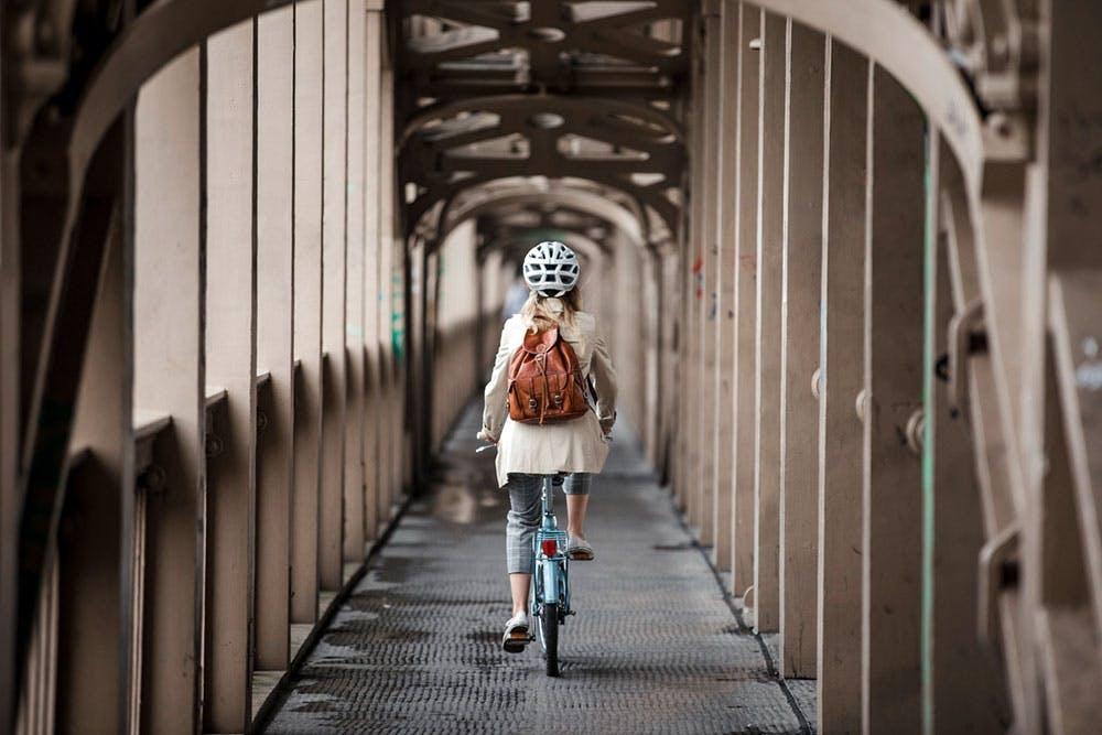 Fahrrad fahren zur Arbeit