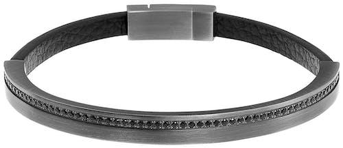 Ce Bracelet ZEPHYR est en Acier Noir