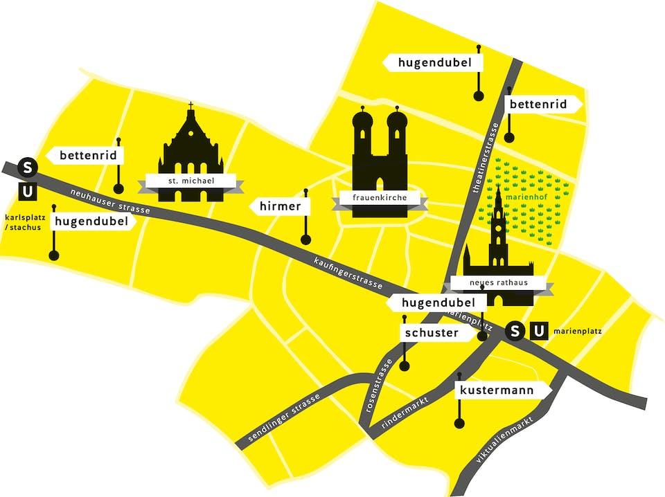 Lageplan der MEH-Häuser