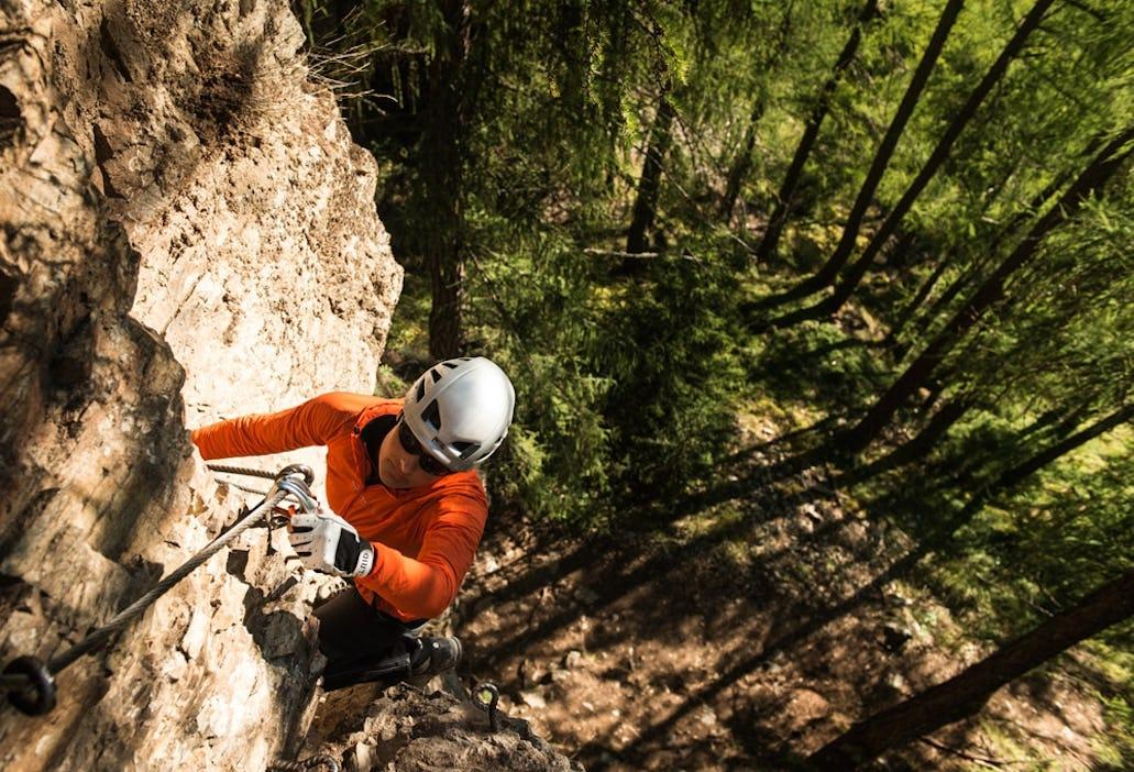Klettersteigset Ohne Bandfalldämpfer : Die neue norm für klettersteigsets