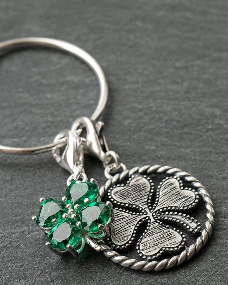 Kette Anhänger Charm Vintage Collier Schmuck Blogger Glück Katze Ring Silber