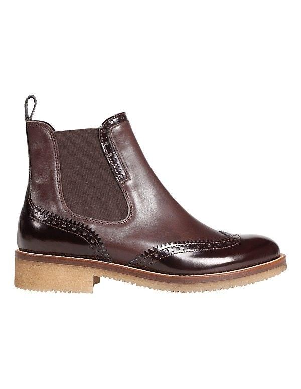 Leder-Boots im Chelsea-Style
