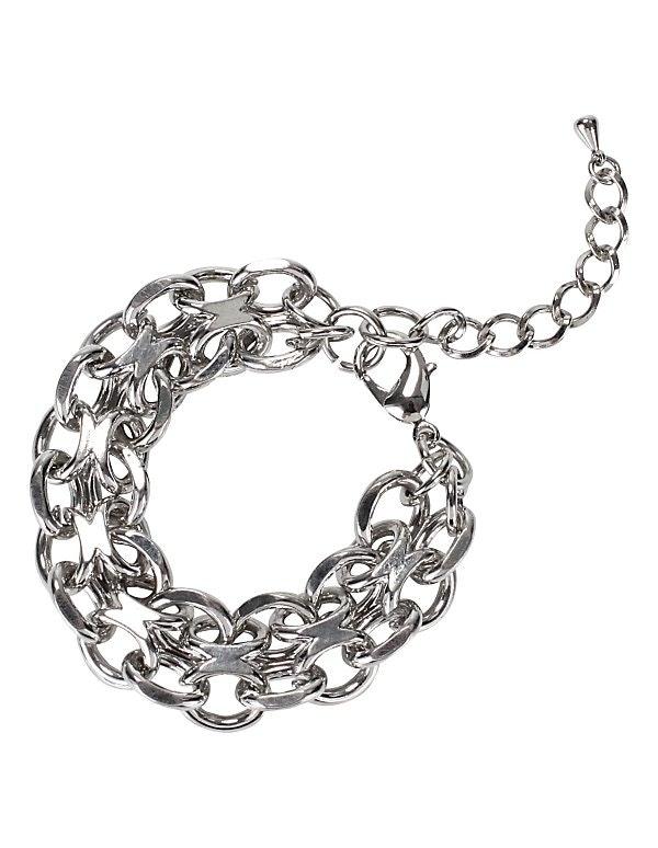 Zweireihiges Glieder-Armband aus Metall