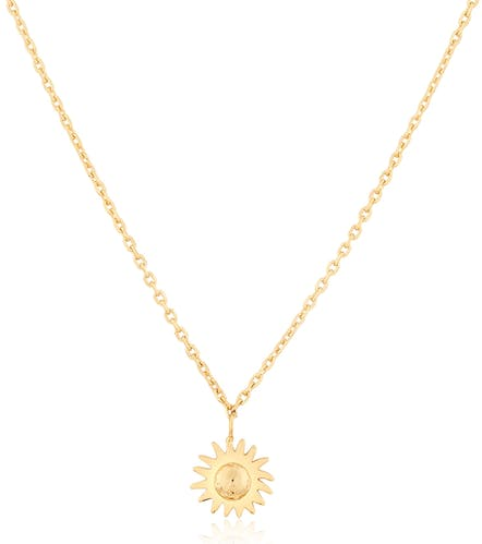 Ce Collier CLEOR en forme de Fleur est en Argent 925/1000 Jaune