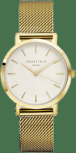 Montre ROSEFIELD Femme avec Boitier Rond 33 mm et Bracelet Acier Doré