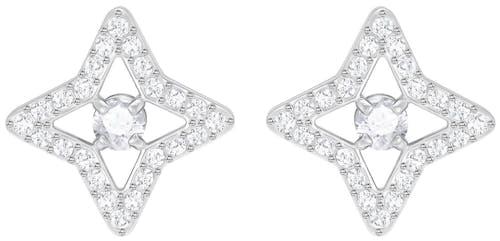Boucles d'oreilles SWAROVSKI en Métal et Cristal Blanc