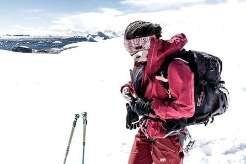 Skitourengeherin