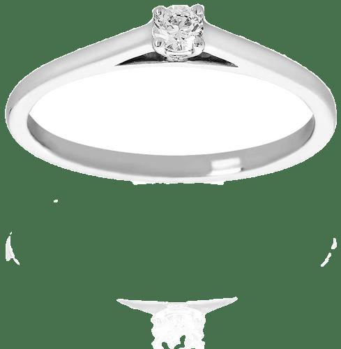 Solitaire PROMESSE en Or 375/1000 Blanc et Diamant Blanc