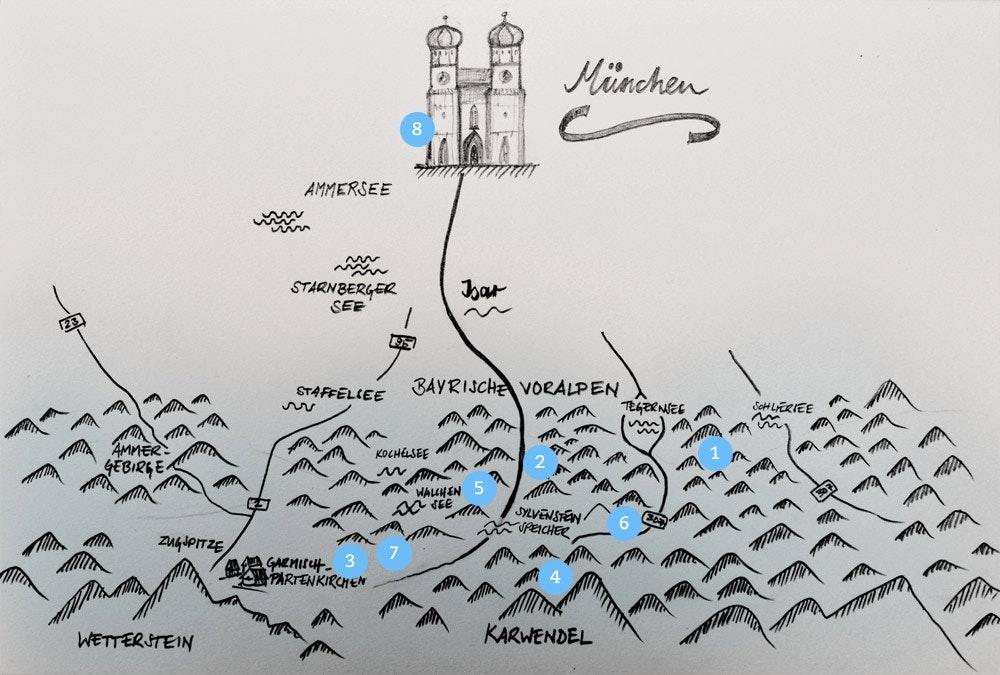 Loipenkarte-Bayern