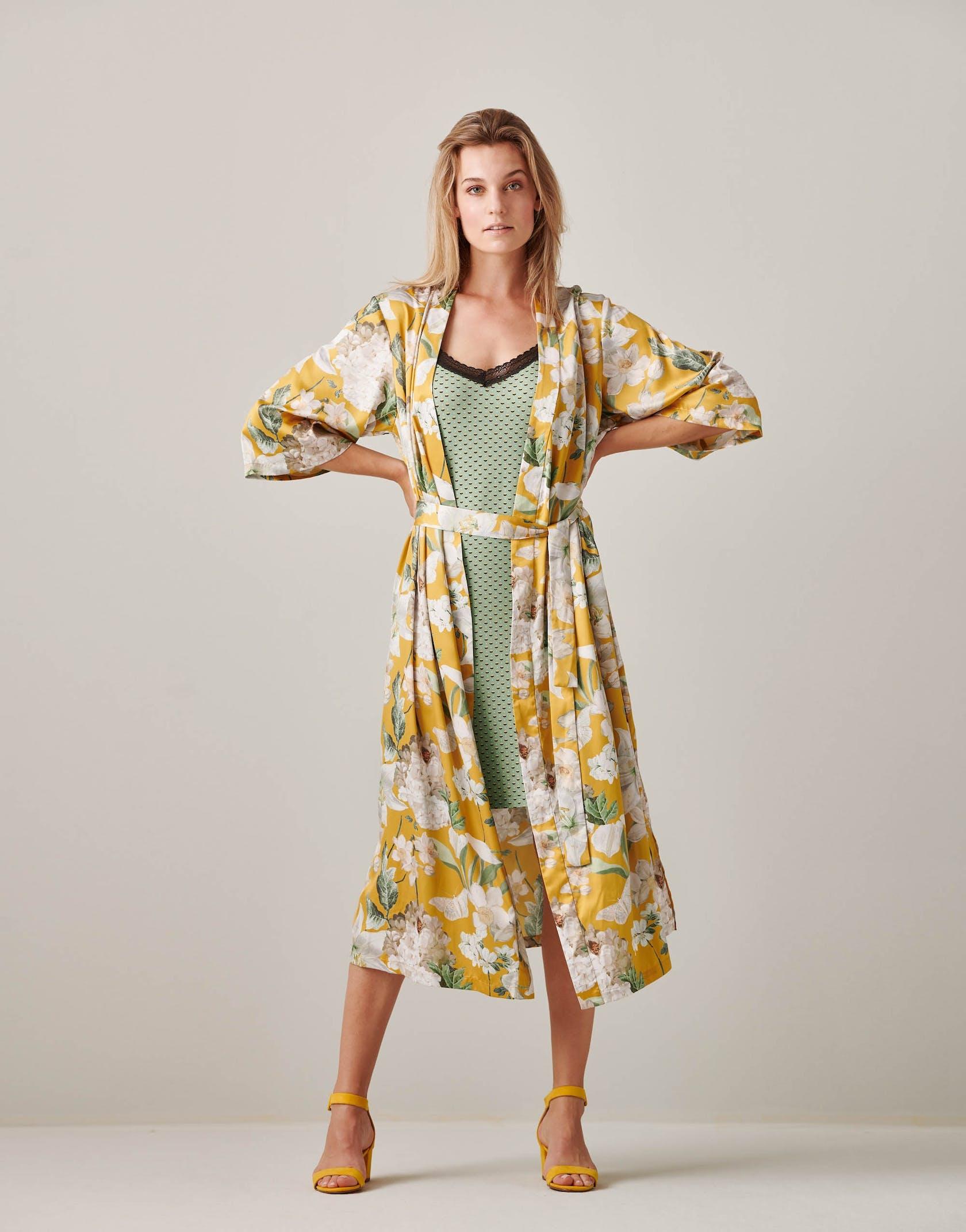 ESSENZA Ilona Rosalee  Kimono Yellow
