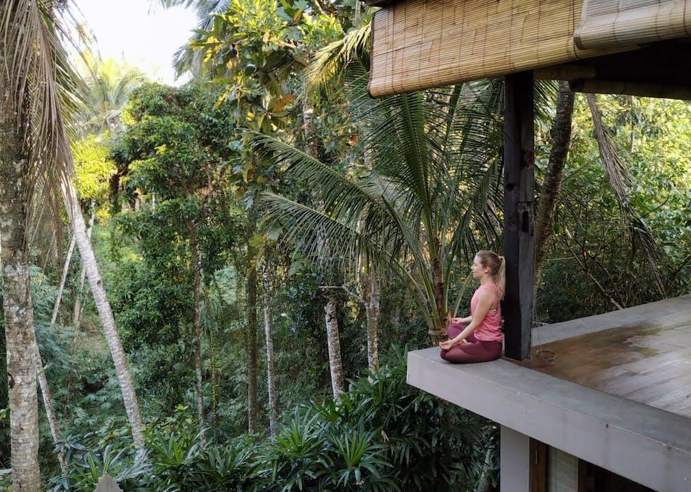 Yoga Shala im Dschungel auf Bali