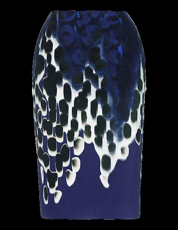 Schmaler Pencilrock mit Art-Print