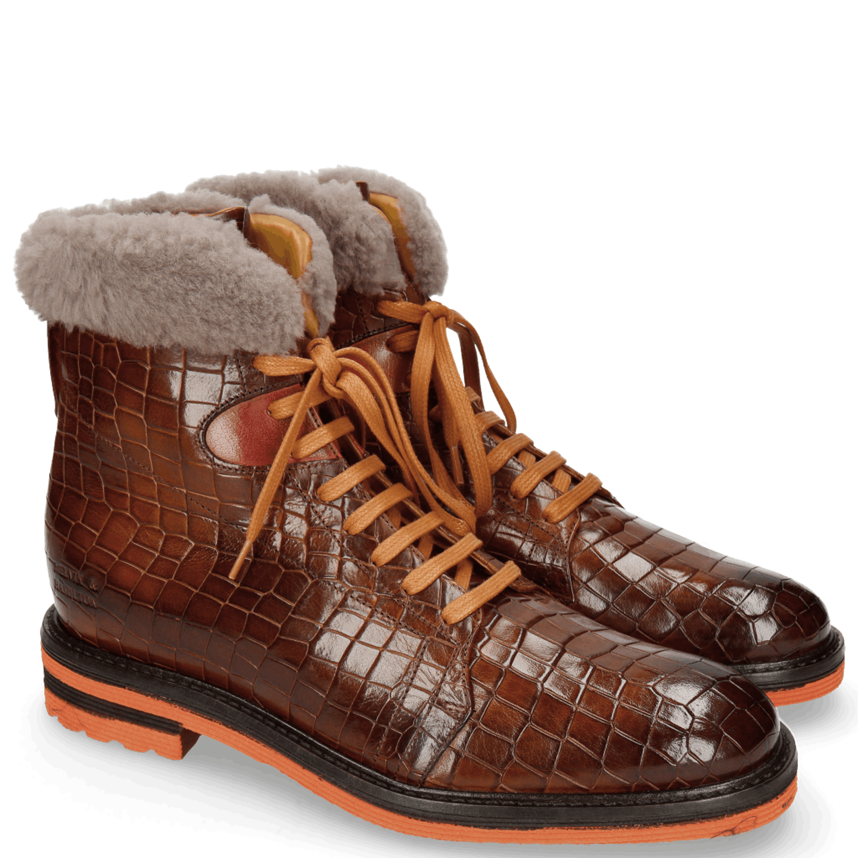 Trevor 19 Crock Wood Winter Orange Fur Taupe