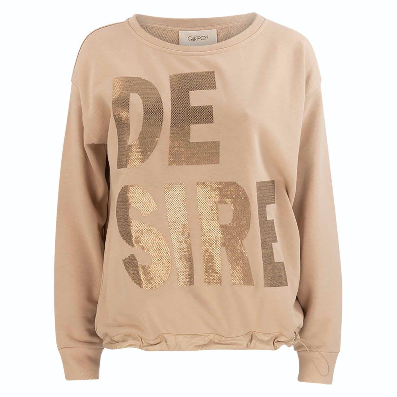 Sweatshirt - Loose Fit - Wording