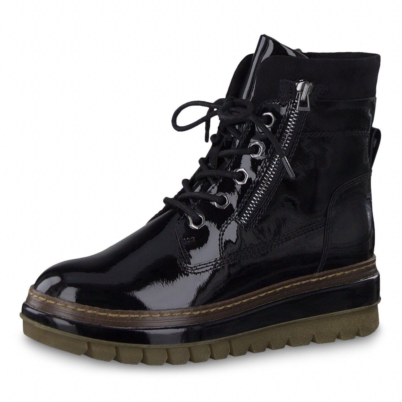Boots - Lackleder-Optik