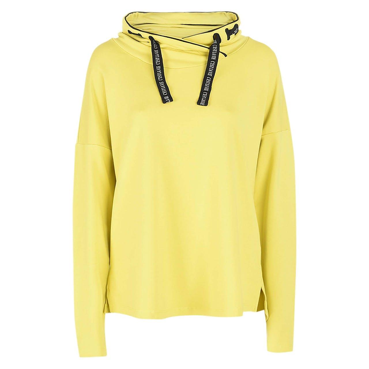 Sweatshirt - Loose Fit - Schalkragen