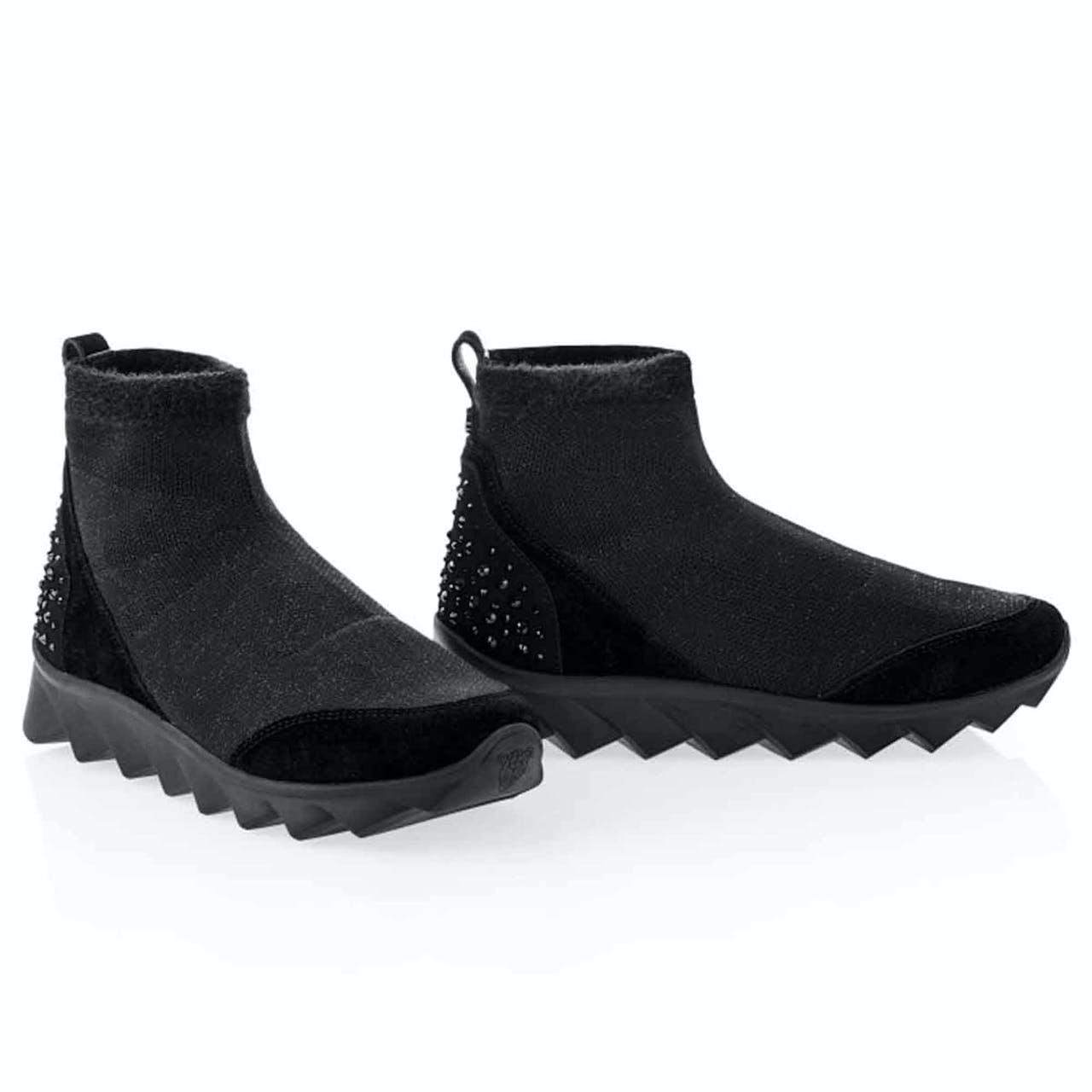Boots - Leder-Optik