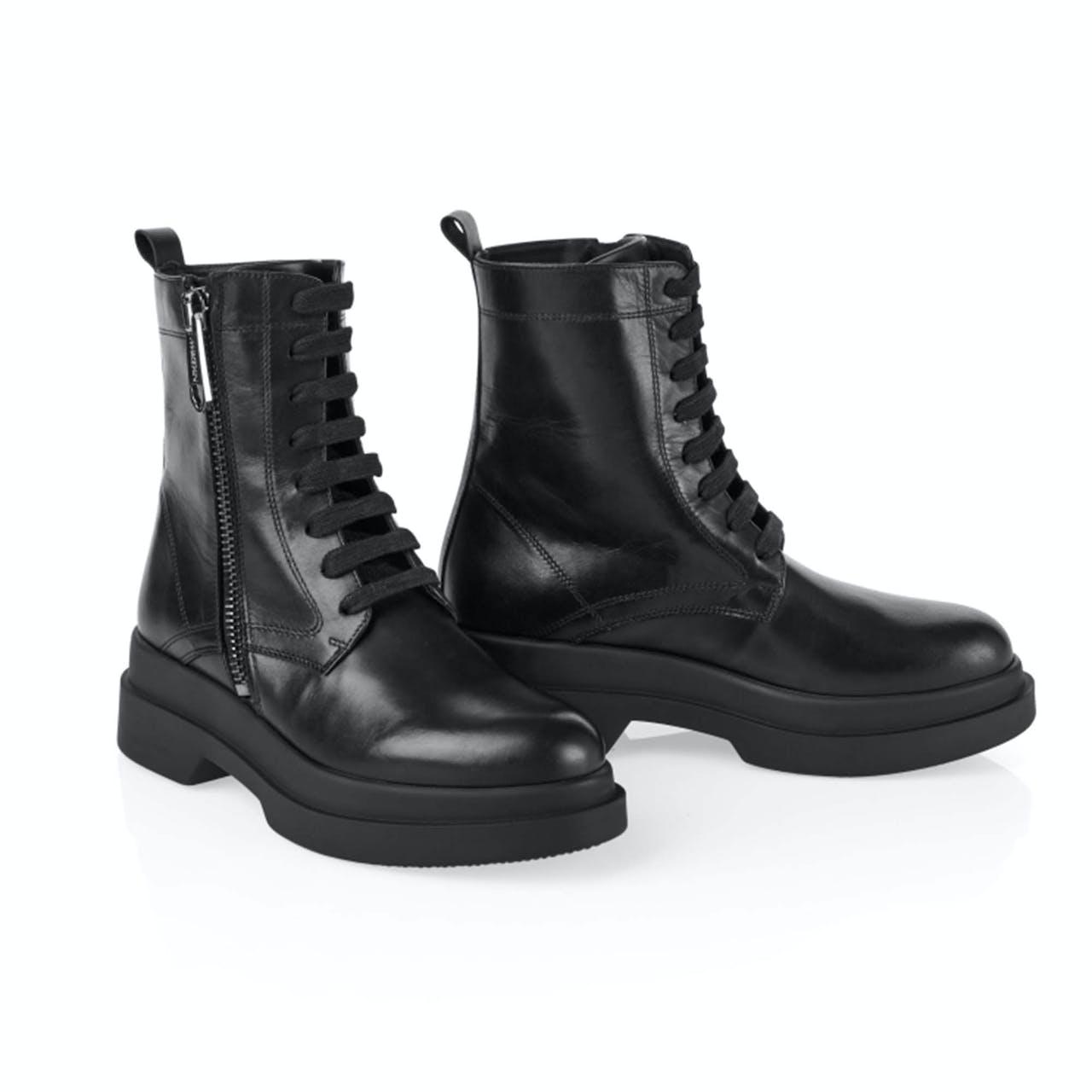 Schnür-Boots - Leder
