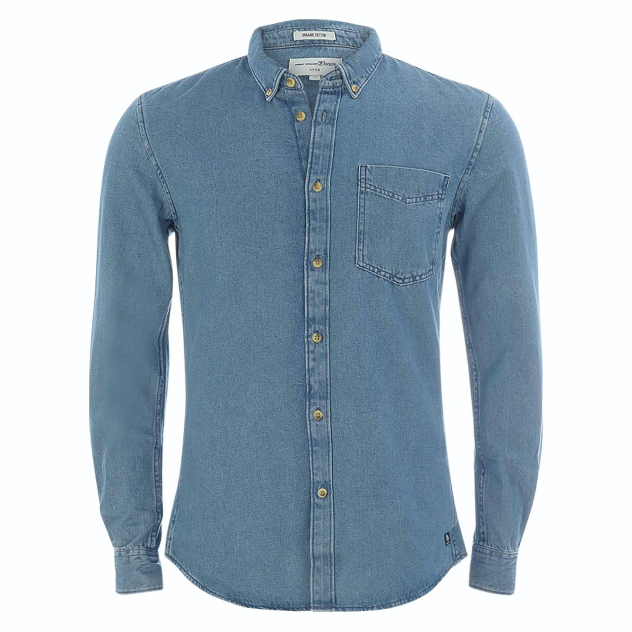 Jeanshemd - Fitted - Button-Down