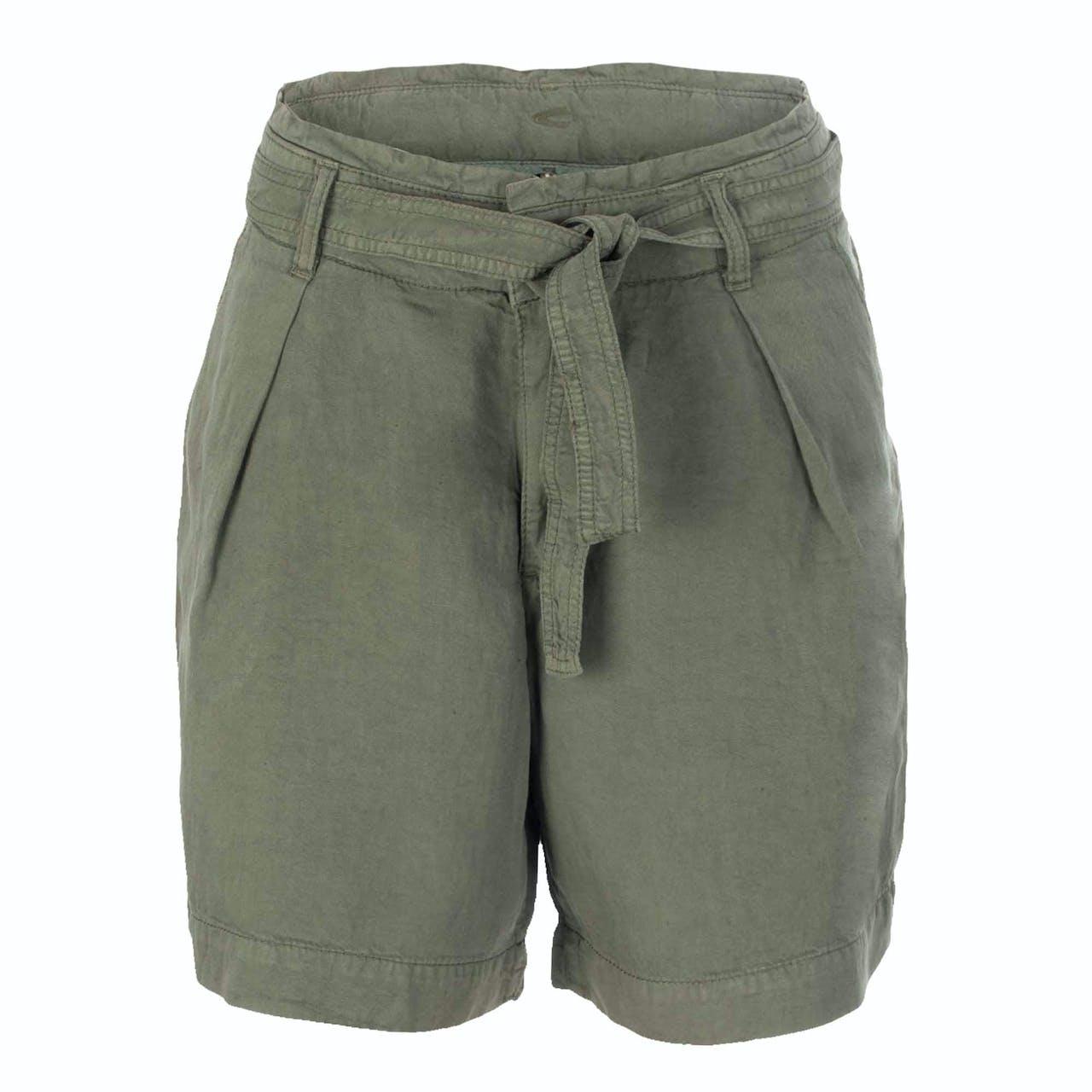 Shorts - Loose Fit - Leinen-Mix