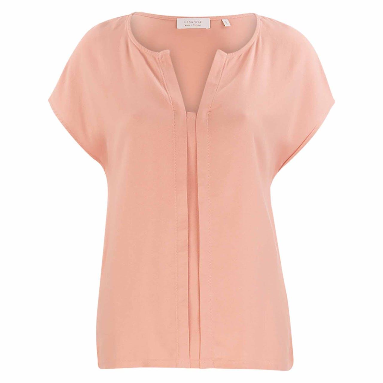 T-Shirt - Loose Fit - Kelchausschnitt