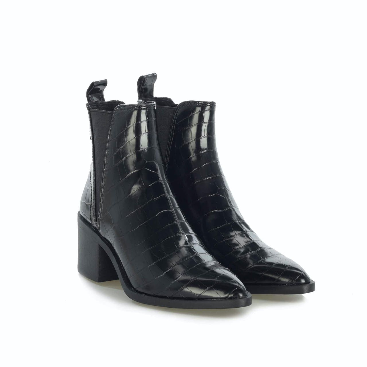 Stiefelette - Audience Black Croco