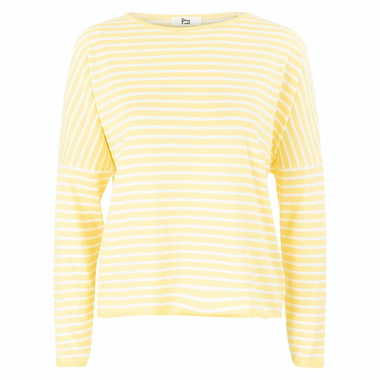 Sweatshirt - Loose Fit -Stripes