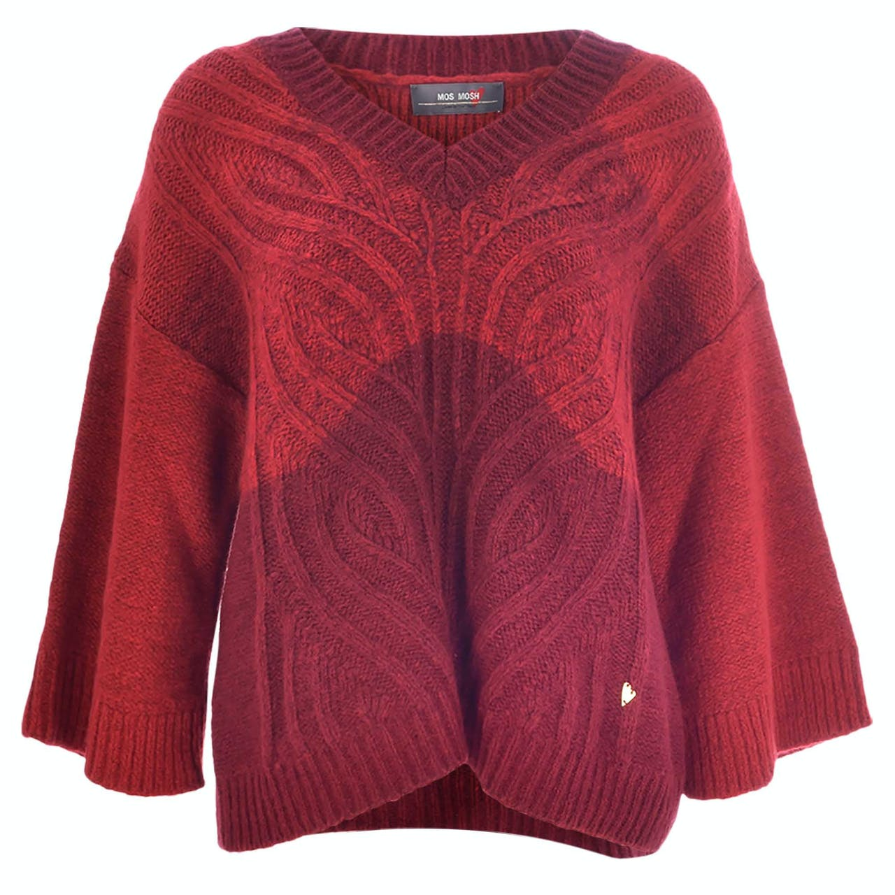 Strickpullover - Loose Fit - Woll-Mix