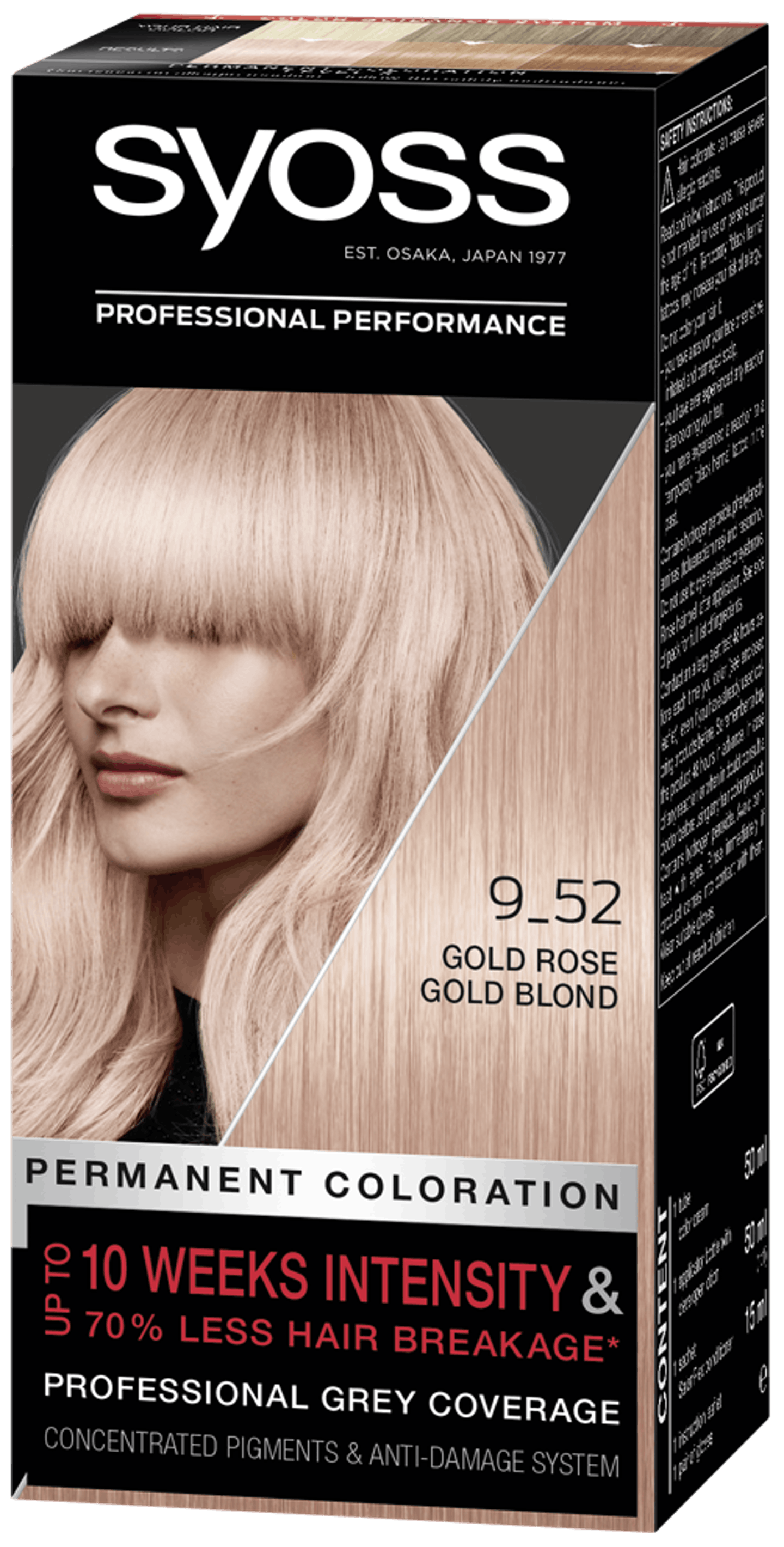 Syoss Permanent Coloration 9_52 Gold Rose Gold Blond