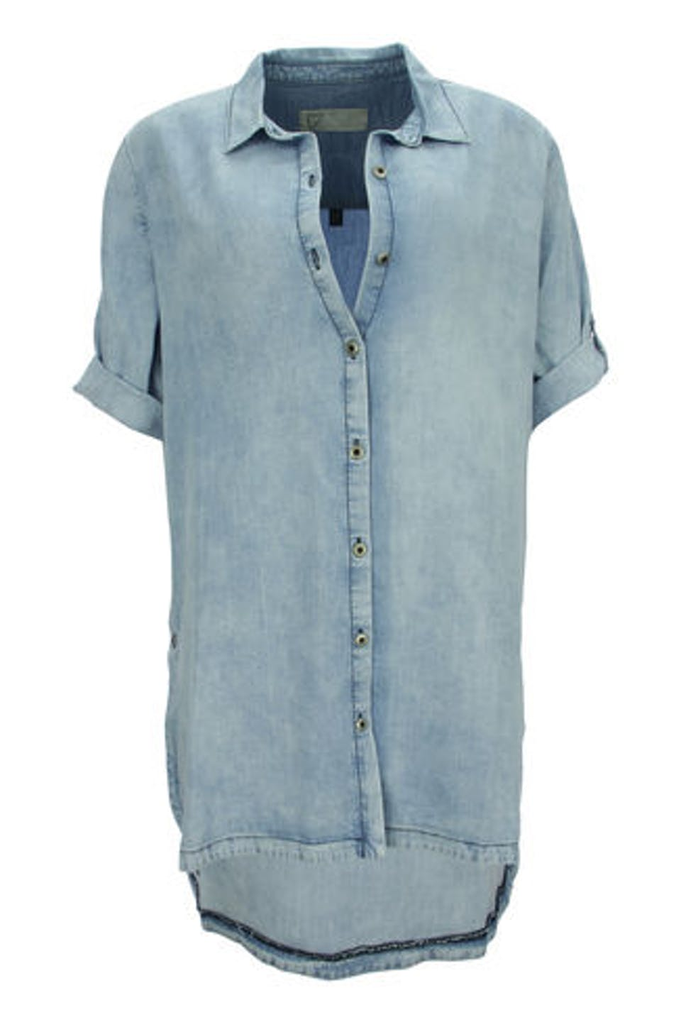Denim Look Bluse Love