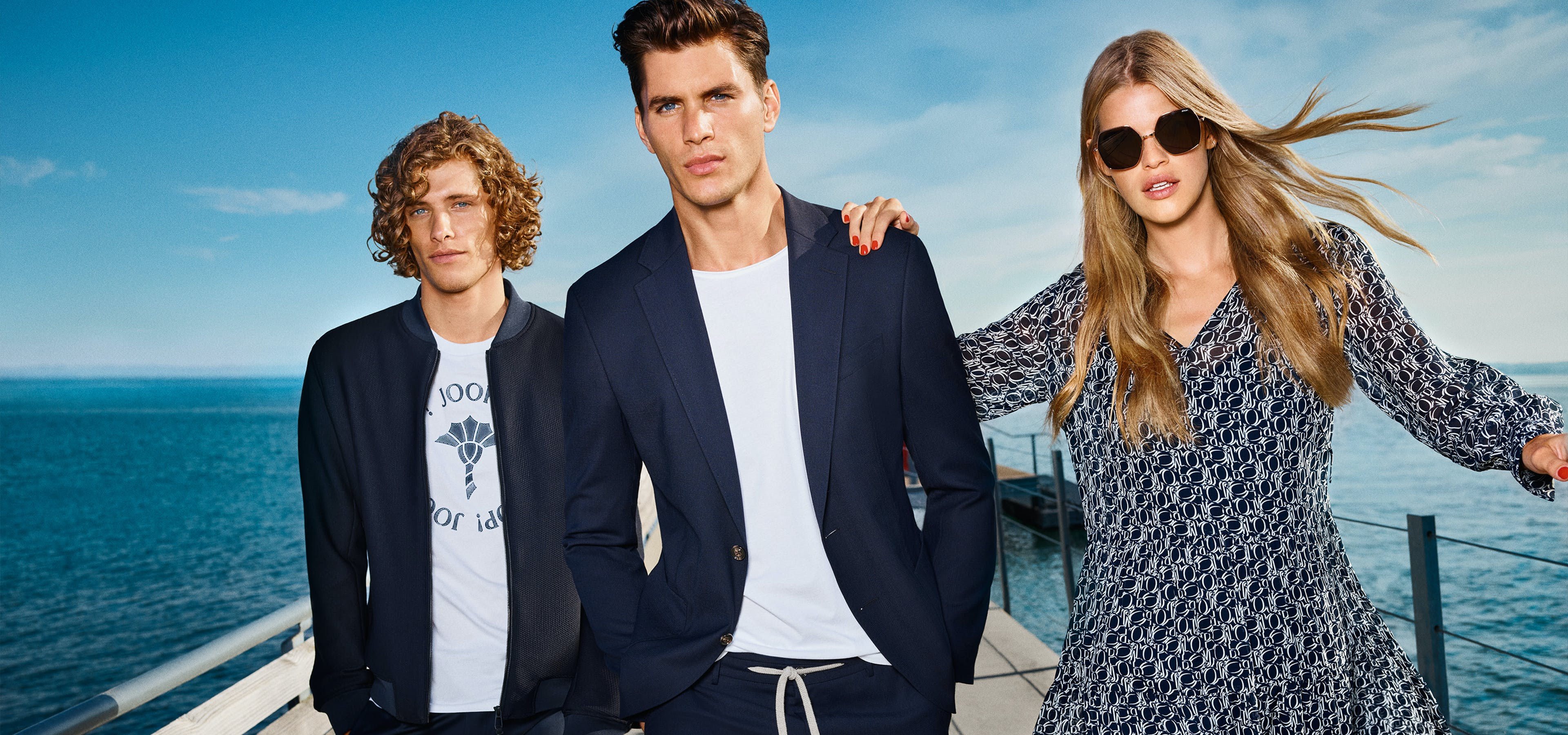 Drei Models in JOOP! Kleidung