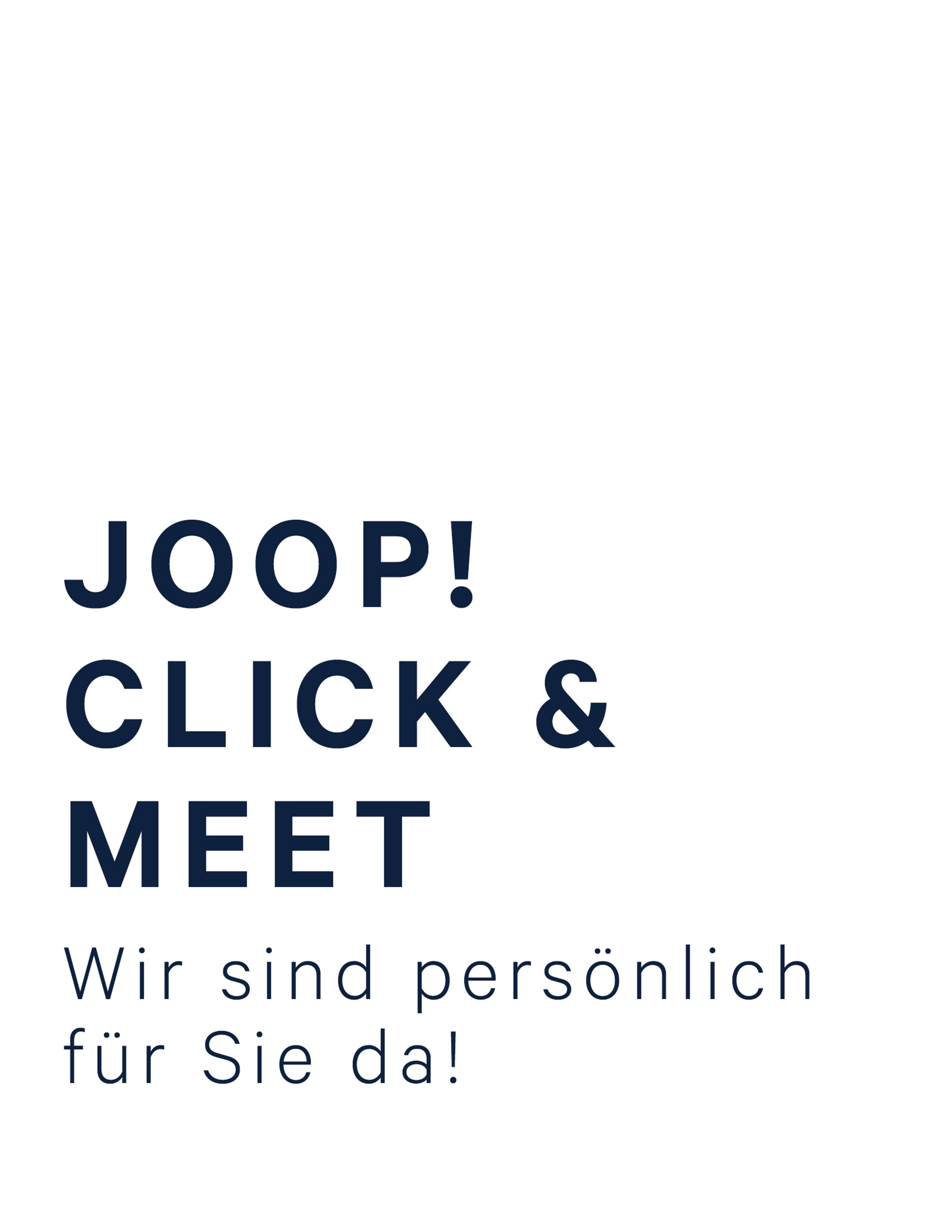 JOOP! Click & Meet Düsseldorf