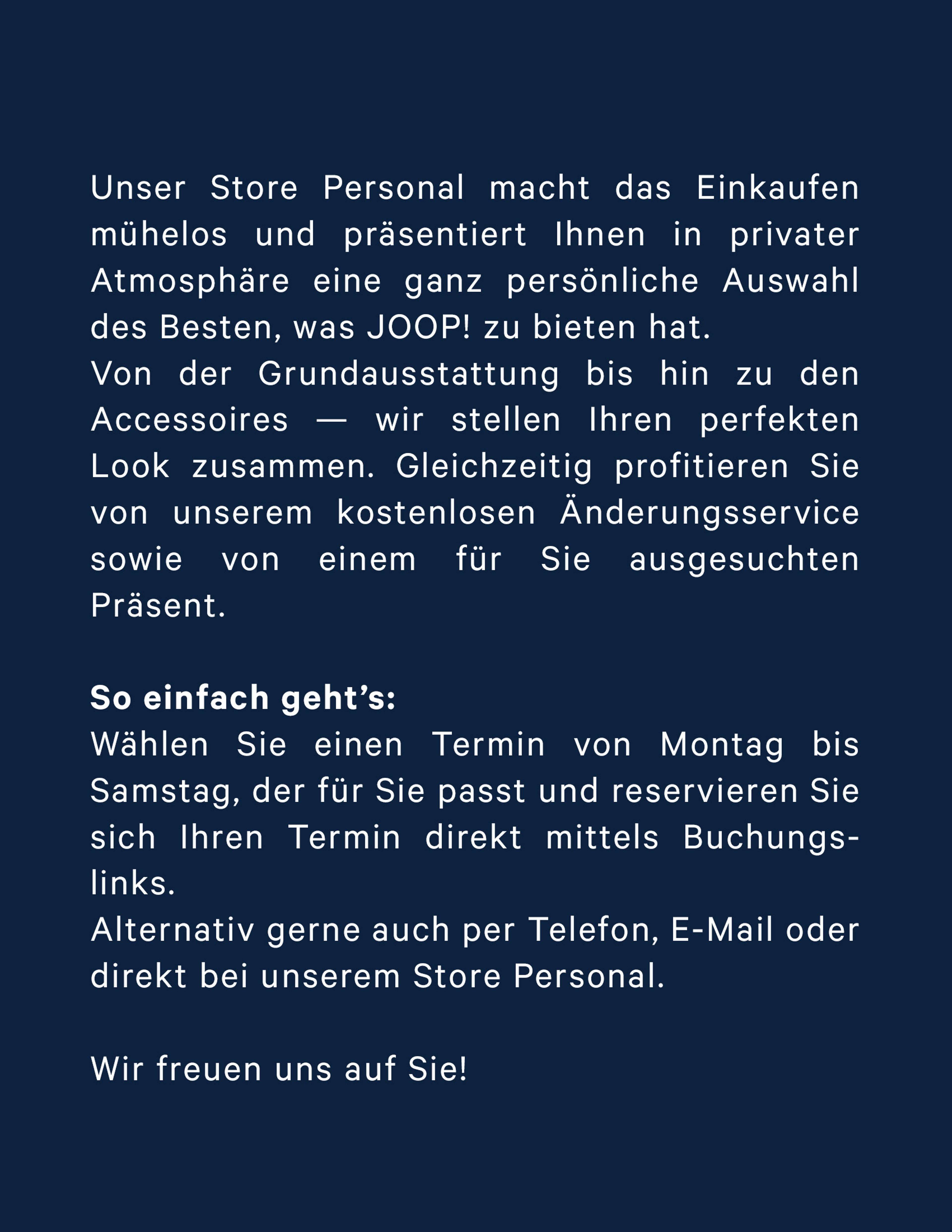 JOOP! Store PRIVATE SHOPPING