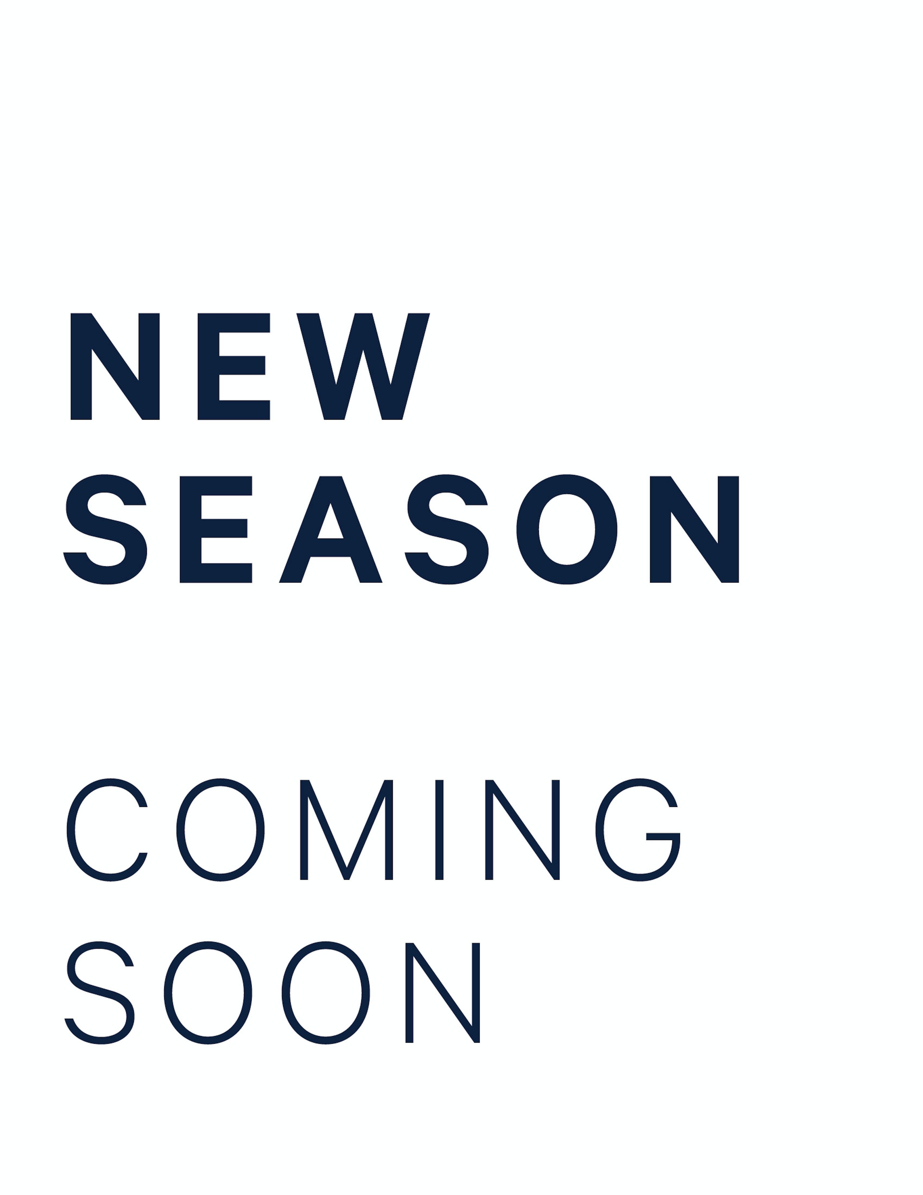 NEW SEASON Fall Winter 2021
