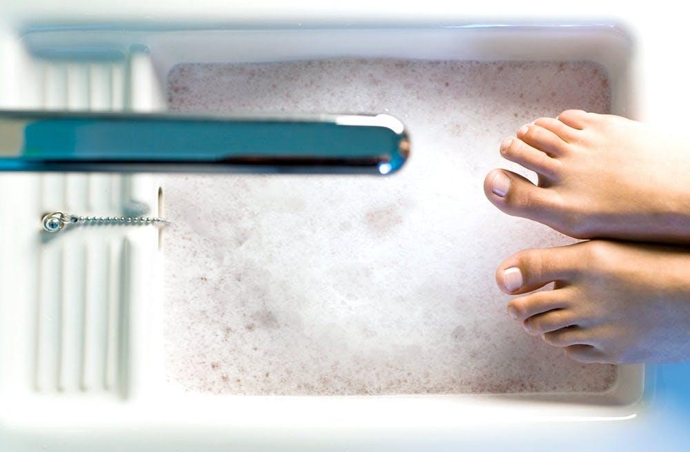 Ansteigendes Fußbad für das Immunsystem
