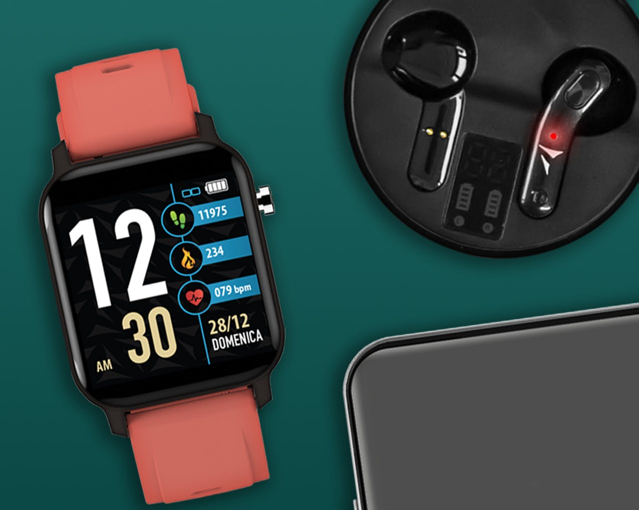 Explore our wide range of iOS & Android Smart Watches and air pods from Techmade. Pedometer, Calories, Distance, Sleep Monitor, Call & SMS Alert