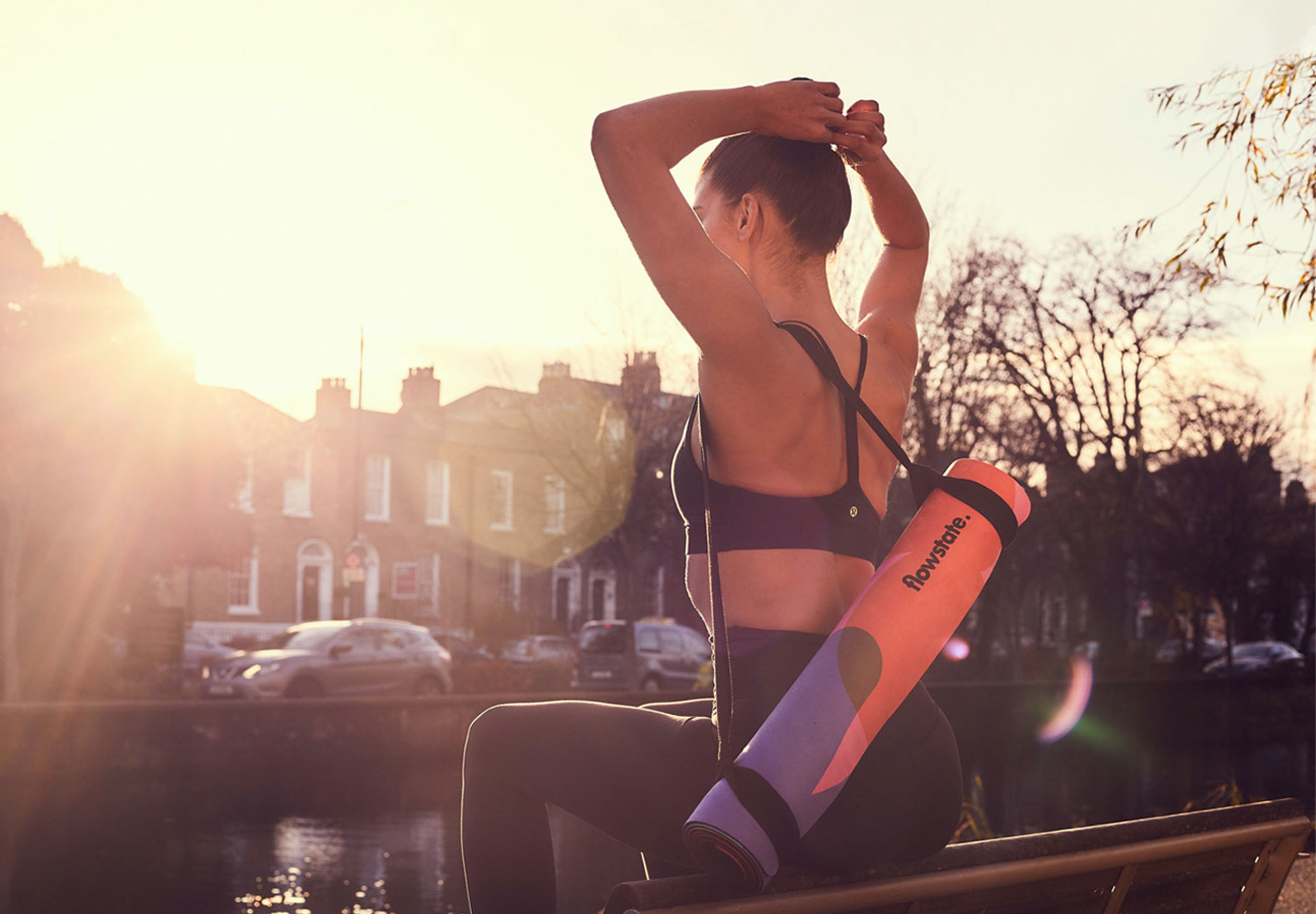 The Flowstate mat is the first of its kind; taking an integrated and sustainable approach to the traditional yoga mat.