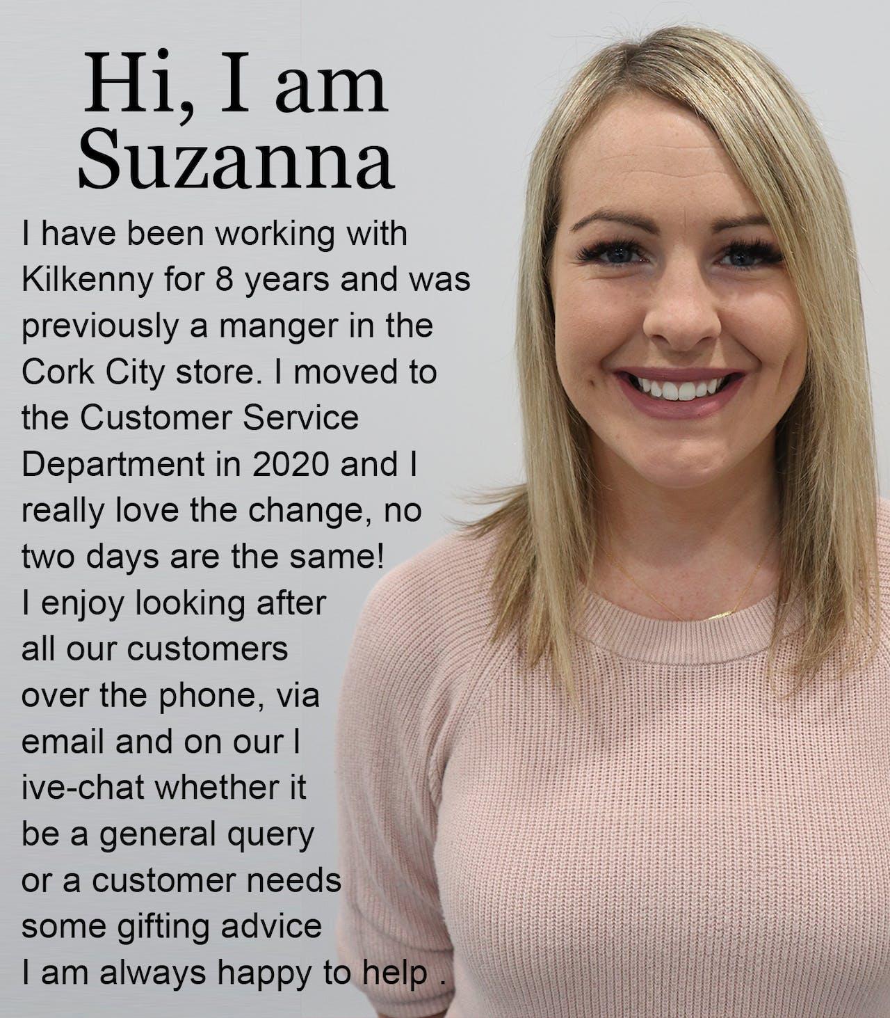 Suzanna at Customer Care Kilkenny Design