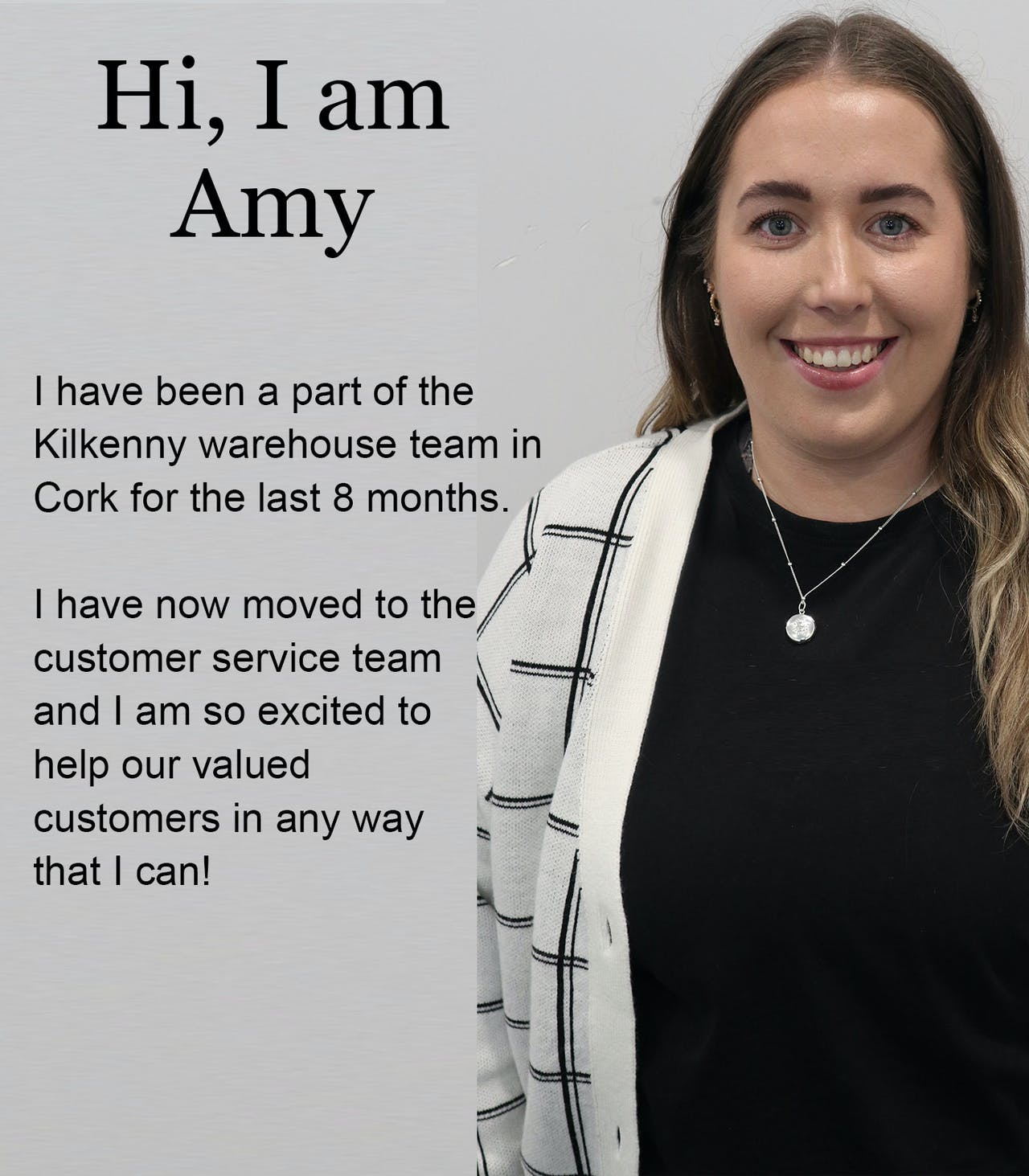 Amy at Customer Care Kilkenny Design