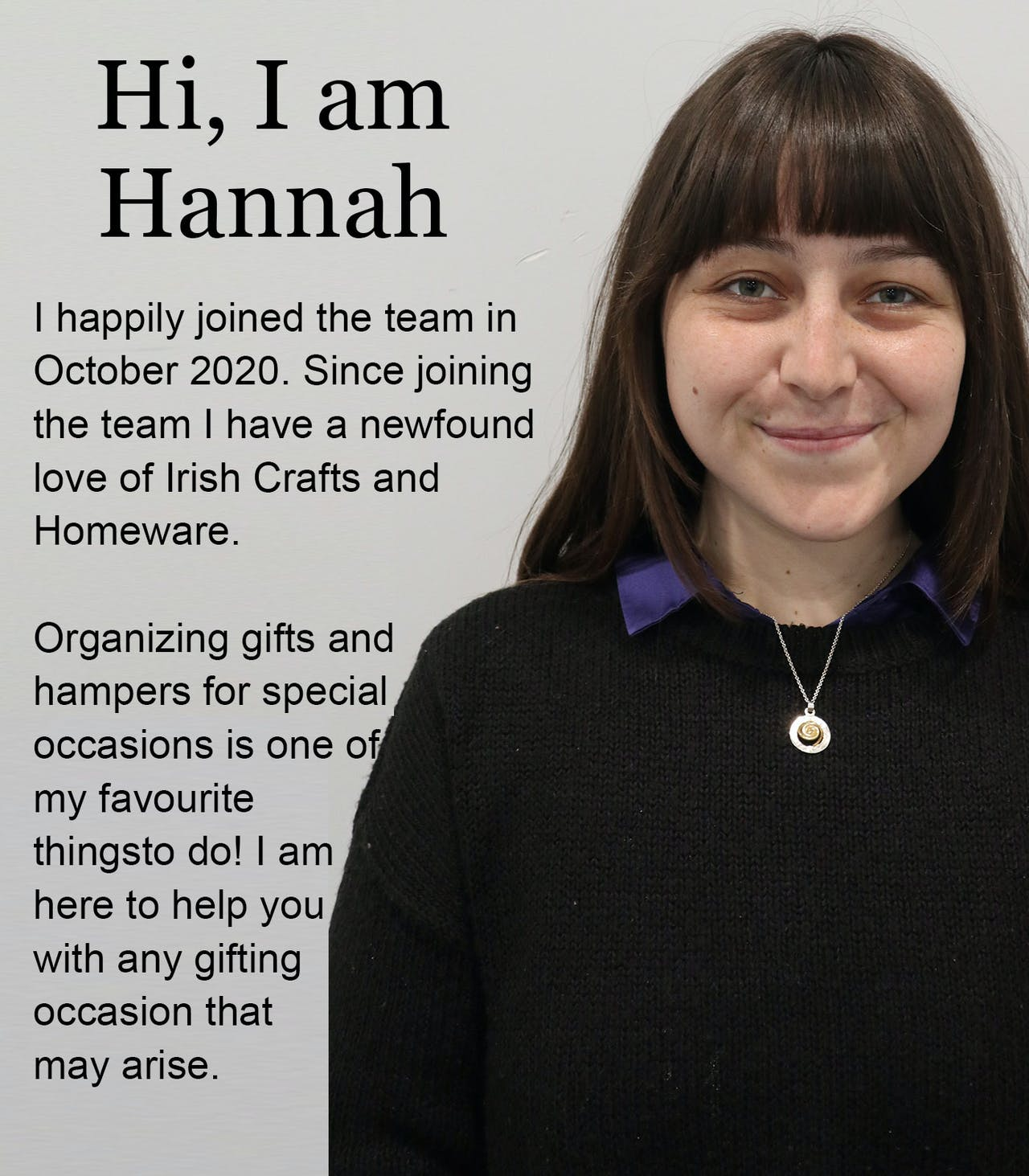 Hannah at Customer Care Kilkenny Design