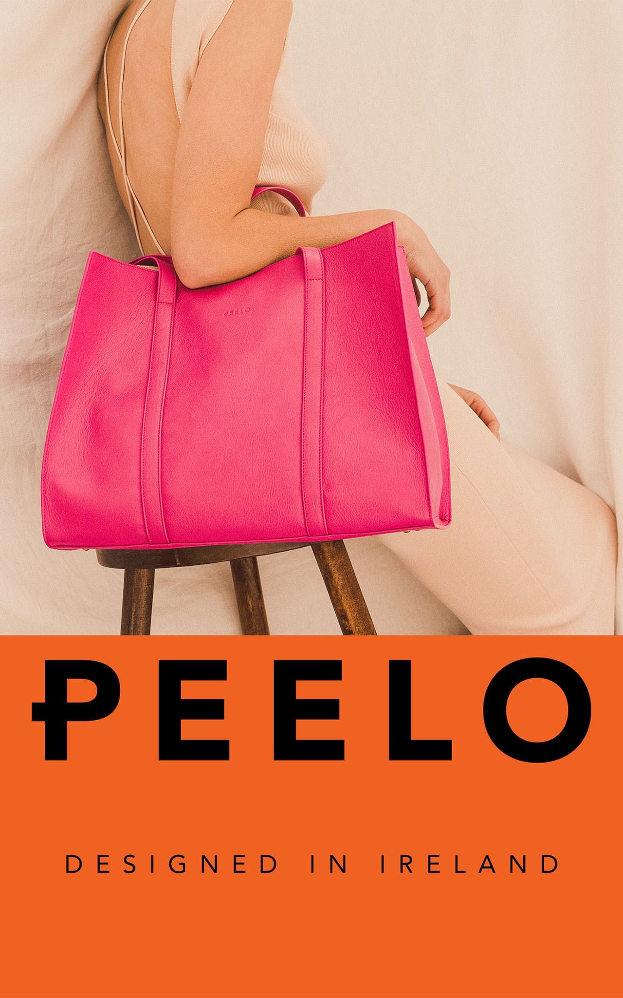 PEELO leather handbags and wallets Designed in Ireland