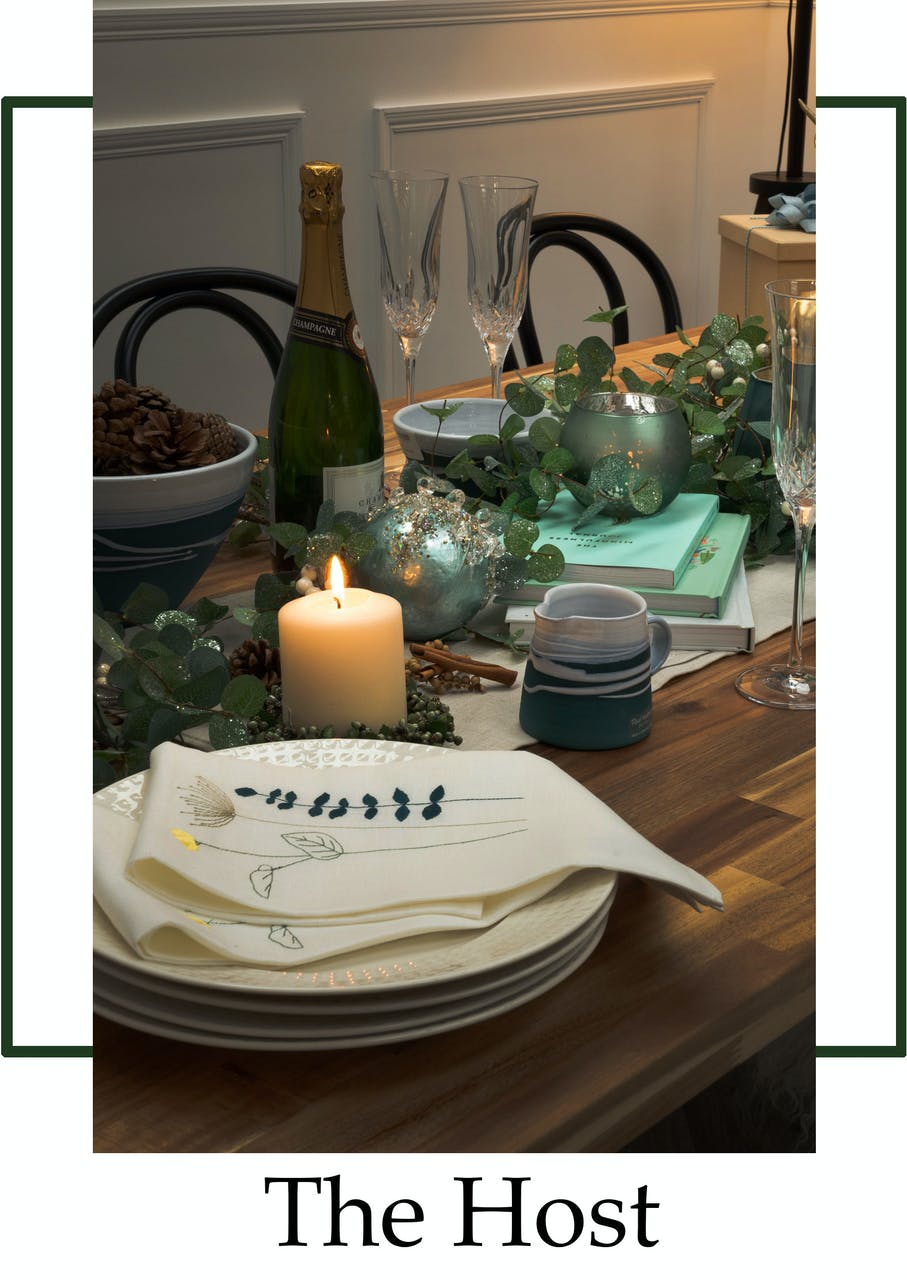 Christmas gifts for the host, dinner party gifts, homeware gifts, napkins, plates, platters,